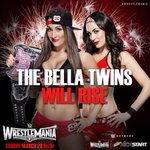 RT si estaras con THE BELLAS TWINS en #WrestleMania31!. #WM31 http://t.co/p64uUT7mxO