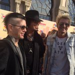 .@SixxAM hanging out on #iHeartAwards red carpet http://t.co/cWhY8dLBfm