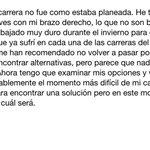 Espero que @26_DaniPedrosa solucione sus dolencias y vuelva cuanto antes. Ánimo! http://t.co/YqFHdmEqPD
