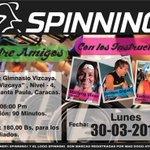 #SpinningEntreAmigos #Lunes 30-03 06:00 pm. Reserva tu bici ???? 0212 9853539. @gimnasiovizcaya #Caracas @CCVizcaya http://t.co/H7qGQ8bxeV