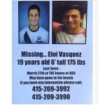 Eloi Vasquez, a freshman on our men's soccer team, has been reported missing. Full statement: http://t.co/GS9MRSPShE http://t.co/4UInDgYlgn