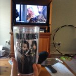 My view for the evening. Gahh I hate that guy #TWDFinaleParty @WalkingDead_AMC http://t.co/OIpcEjOczH