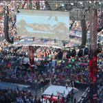 Triple H defeats Sting w/ the help of DX & Shawn Michaels. NWO tried to defend Sting. #StingVsTripleH #WrestleMania http://t.co/NPrgozCPlh