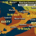Winds are picking up as a clipper moves into southern Ontario tonight: http://t.co/jgREVXRpM3 http://t.co/jmm3BJozKH