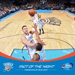 .@BudLight Fact of the Night: Thunder is 9-7 on second night of back-to-backs this season. http://t.co/YmjQsnkO7C