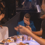 Our pal @jtimberlake getting emotional before accepting the #InnovatorAward at our #iHeartAwards! WE LOVE YOU http://t.co/5M103GWa9i