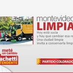 Queremos una Montevideo limpia. Una ciudad limpia invita a no ensuciarla. En mayo #MetéUnCambio con @RachettiRicardo http://t.co/YaWcA08jP8