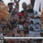 """""""While @TheRock left his heart in San Francisco ... youve clearly left your balls in Stamford, CT!"""" - Rock #WM31 http://t.co/qtK71vKVi6"""