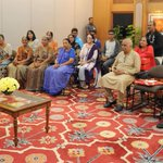 Bau saras: A group of Gujarati families from Singapore who are currently on a visit to India calls on the PM http://t.co/j7GyJAIU4w""