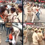 """@ANI_news: Patna: Police baton charge on ABVP workers protesting against State Government. http://t.co/9iW0Uwugkw"" pitto behncho"