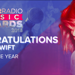 SONG OF THE YEAR! Congrats to @taylorswift13 and her smash hit #shakeitoff! WE LOVE YOU! #iHeartAwards http://t.co/ivQiwboW3X