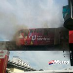 Kebakaran di Stesen Monorail Titiwangsa 8.30 pagi ini. Perkhidmatan tergendala & kesesakan jalan lbh 2 Km Pix pembaca http://t.co/Go3tHEse8R