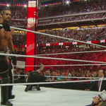 SETH ROLLINS HAS CASHED IN #MITB!! Its now a #TripleThreat Match!!! http://t.co/Ovpfu1Iwba