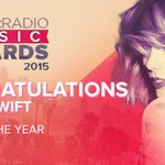 And there goes @taylorswift13... cleaning up at the #iHeartAwards winning #AristOfTheYear! Were so proud of you Tay! http://t.co/Bjcqft4Rcn