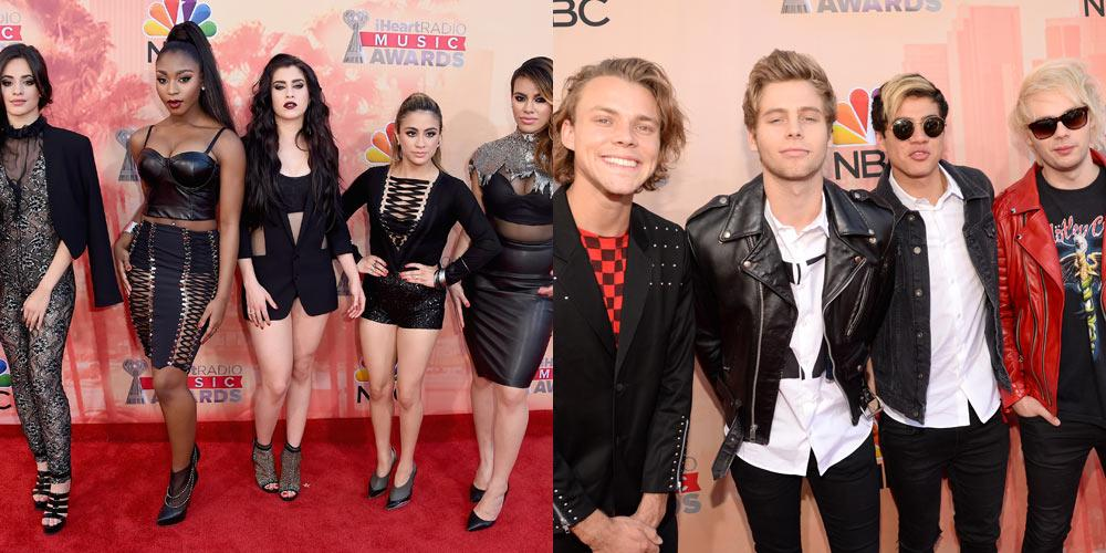 .@5SOS and @FifthHarmony were two of the hot groups at the #iHeartAwards tonight! See pics: http://t.co/nhvRWpyJWF http://t.co/UBpXZaxJyX