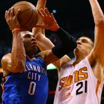 Russell Westbrook (33-9-7) powers @OKCThunder to a critical win over @Suns in Phoenix, 109-97: http://t.co/HsOB7ySCQv http://t.co/cU01Hl23np