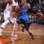 Thunder comeback! Down by 20, OKC thumps Phoenix in the 2nd half to win 109-97. Westbrook: 33 Pts, 9 Reb, 7 Ast http://t.co/941IRPBo3Q