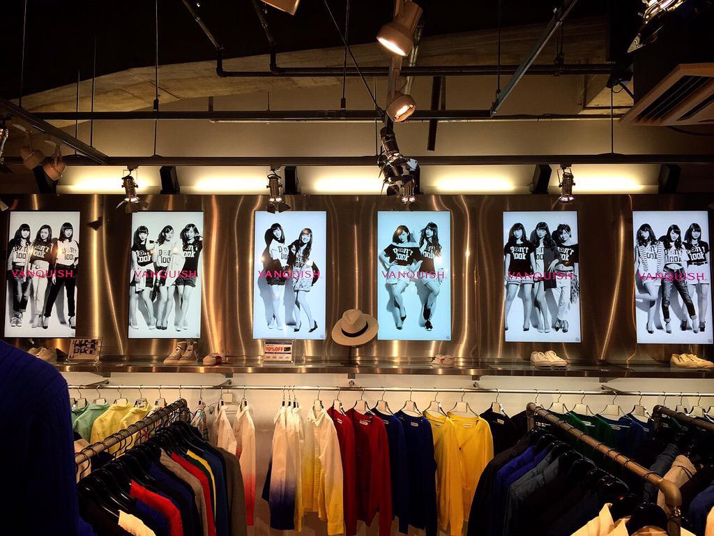 NMB48 × VANQUISH 店舗展開スタートしております!写真の VANQUISH渋谷 109メンズ店では衣装展開催中です!http://t.co/sYrjm54iVt http://t.co/KEgVTd70JJ
