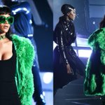 """.@Rihanna performed """"Bitch Better Have My Money"""" #BBHMM for the first-time. Watch: http://t.co/tP5ylIexC0 http://t.co/4NajFcOlvQ"""