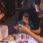 Oh man, @jtimberlake dont cry! We are SO HAPPY to give you the #InnovatorAward! #iHeartAwards http://t.co/XOSqZo3R3r