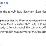 JUST IN: MP Billy Gordon shares ALP resignation letter. @AnnastaciaMP has called for him to quit Parlt #QldPol #9News http://t.co/fCW3WL4bmB