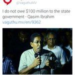 Qasim Ibrahim Sarukaarah dhakkan nujeheyney buni 100 million thah dhakkan jehigen amuru fas kuran Court ah thi lee? http://t.co/b0JcOswlid