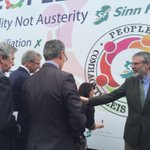 SF president leads partys Westminster candidates in signing Peoples Pact billboard in north Belfast http://t.co/Oon071fErQ