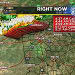 Radar, updated with lightning and a timeline, for northwest Georgia this morning. #Atlanta http://t.co/XckI6ah5lc