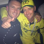 Starting travel back to SA, well done to @MClarke23 and the rest of Australia on their 5th World Cup win. http://t.co/DEpJ35H6iD