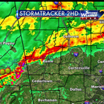 Heavy rain & lightning from Floyd to Union counties moving ESE 50 mph. Im tracking it on #wsbtv at 5:19 http://t.co/cMg86KJJo7