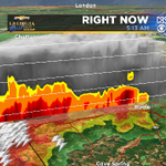 CBS46 3-D Radar shows storms in Rome, GA reaching up to 30,000 feet high in the sky! LOTS of lightning/small hail http://t.co/34xdgiMD4E