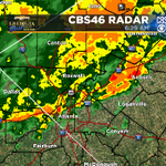 Rain has made its way to #ATL - heavy at times with some storms. The latest right now @CBS46 #Rain http://t.co/Y1GFwk0sFs