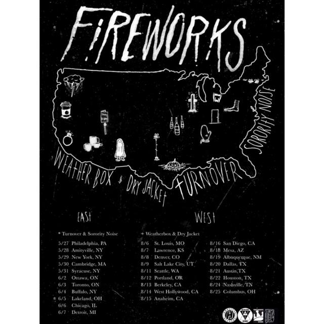 Finally @wearefireworks headline tour, along for the ride @turnoverva @sororitynoise @weatherboxes @dryjacketnj http://t.co/6E9h9Ooc8y