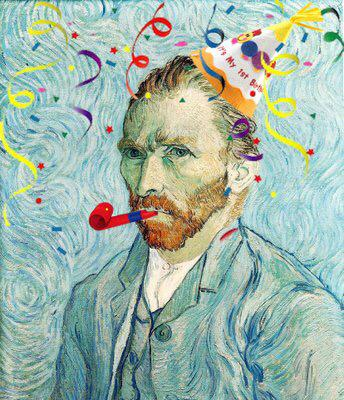 🎊🎉🎊 Happy Birthday to Vincent Van Gogh!! Born on this day 162 years ago (1853) 🎊🎉🎊 http://t.co/EoUJPzJ02B