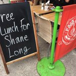 No sign yet of Shane Long in @FoodgameDublin http://t.co/opmXb9FXtj