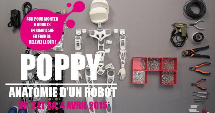 """Soirée """"montage de robots"""" café #champslibres avec @poppy_project par @espace_sciences https://t.co/LjtXTJAS6Q http://t.co/hZTOzeXmyI"""