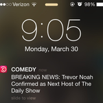 Get your @ComedyCentral breaking news through the app. @Trevornoah is your next #DailyShow host! http://t.co/dcSnqLXUyB