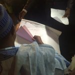 Result sheets been shown to party agents #NigeriaDecides http://t.co/vzfI8IH1oQ