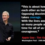 Apple CEO Tim cook speaks out on pro-discrimination laws in Indiana and other states. http://t.co/D7gLHtoG7d http://t.co/nZCofDigGJ