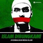 Ayo Lawan!!! #KembalikanMediaIslam. Bantu Share Ustadz2 @felixsiauw @salimafillah @MustofaNahra @bachtiarnasir dll :) http://t.co/GpisKRlgpr