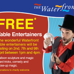 On 2nd, 7th and 9th April from 1-4pm weve got some great Table Entertainers showing off their tricks and skills! http://t.co/dDQvHFXqHQ