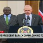 RT @ntvkenya: U.S President Barack Obama coming to Kenya. State House Media Briefing http://t.co/dtQyDcK8Op