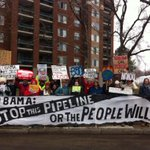A stalwart crew has gathered in the snow at UMass Boston to remind President Obama: reject #KXL! http://t.co/nyseGyoh6L