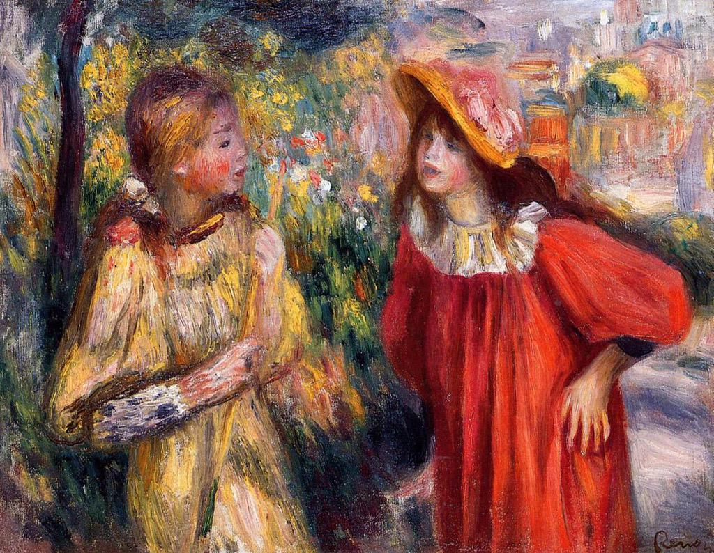 The Conversation Pierre-Auguste Renoir (1895) #dailyart http://t.co/dKNQBJYmrT