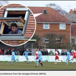 Poole Town manager gets stadium ban, brilliantly watches from attic opposite: http://t.co/zbXXbebn1U http://t.co/EicAU4OxTY