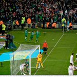 Video: Fan footage shows the elation among Ireland fans after Shane Longs equaliser http://t.co/cCWtZj83EB http://t.co/HI003NidCb