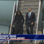 Pres. Obama & Michelle Obama have arrived in Boston to attend dedication of the Edward M. Kennedy Institute: #7News http://t.co/E3tuAIjExq
