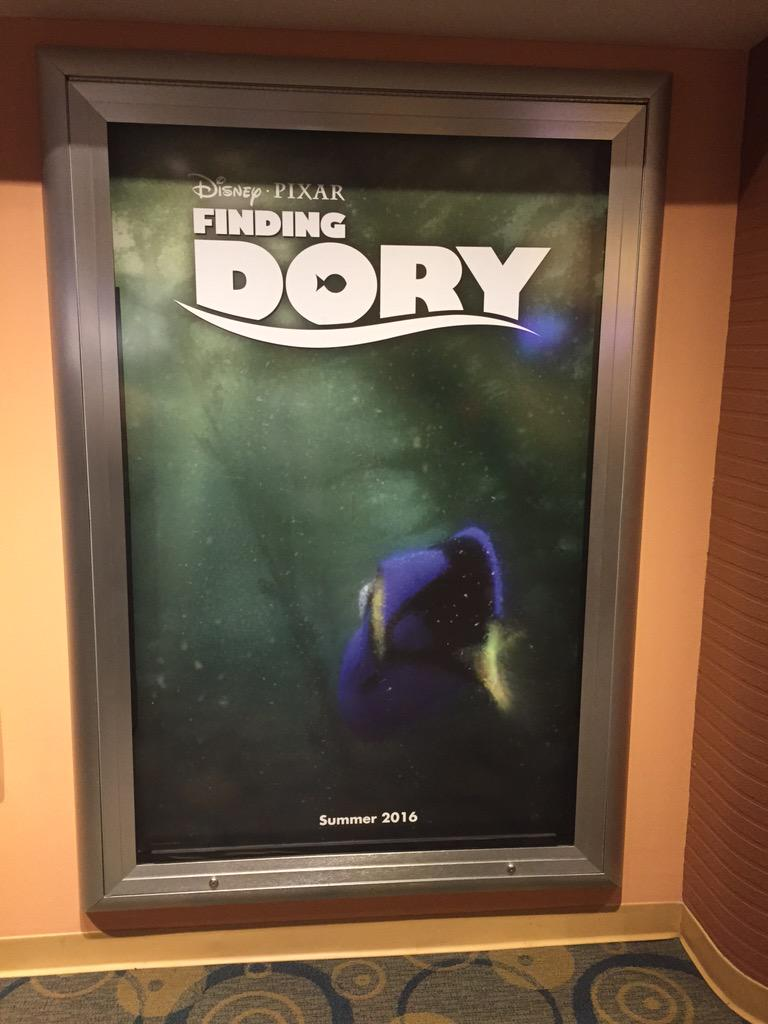 Finding dory poster up in Disney animation academy at Disneys Hollywood studios. http://t.co/e4XfpUFPSg