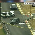 1 person shot dead after car tries to ram entrance to NSA headquarters http://t.co/wpnKVzu8LD http://t.co/BXioNYKCMT