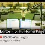 #Editor II or III, #Home Page needed in #Washington, apply now at #NPR! #job http://t.co/EFSr3vab9t http://t.co/Z1RJykJOeN